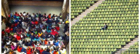 COLLAGE futbol teatre barça madrid
